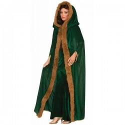 Capa medieval verde para mujer - Imagen 1