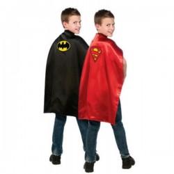 Capa de Batman y Superman reversible para niño - Imagen 1