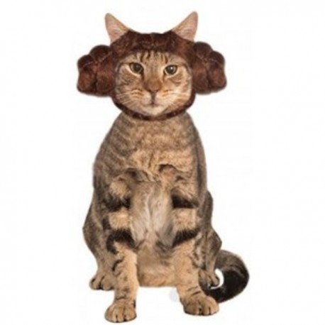 Orejas de la princesa Leia Star Wars para gato - Imagen 1