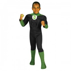 Disfraz de Linterna Verde Musculoso DC Comics para niño - Imagen 1