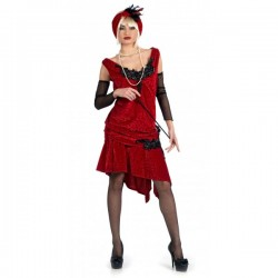 Disfraz de charlestón brocado deluxe - Imagen 1