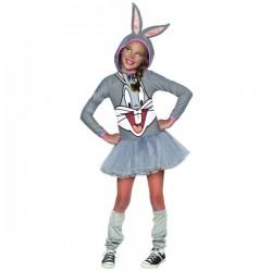 Disfraz de Bugs Bunny Looney Tunes para niña - Imagen 1