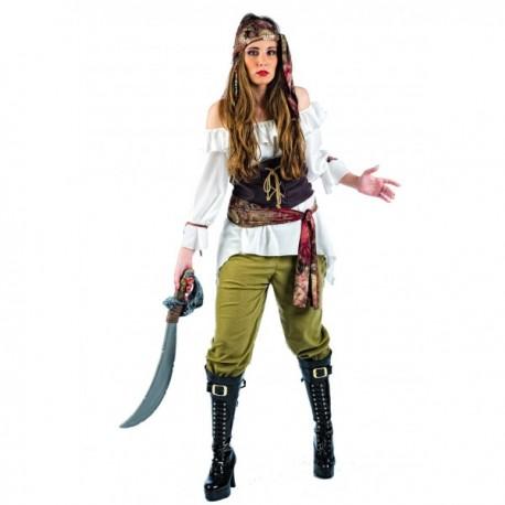 Disfraz de pirata saqueadora deluxe - Imagen 1
