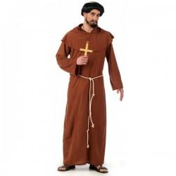 Disfraz de monje franciscano medieval - Imagen 1