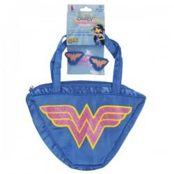 Set bolso y clip para el pelo de Wonder Woman My Super Bestfriends para niña - Imagen 1