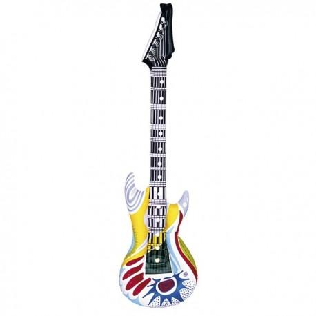 Guitarra rockera hinchable - Imagen 1