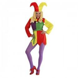 Disfraz de bufón para mujer - Imagen 1