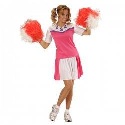 Disfraz de animadora americana para mujer - Imagen 1