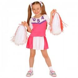 Disfraz de animadora americana para niña - Imagen 1