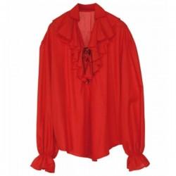 Camisa roja de pirata para mujer - Imagen 1