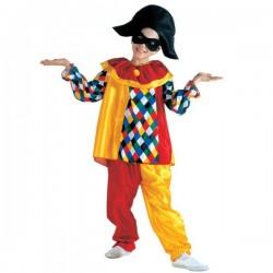 Disfraz de arlequín divertido para niño - Imagen 1