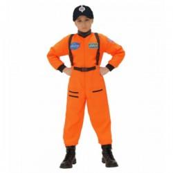 Disfraz de astronauta naranja para niño - Imagen 1