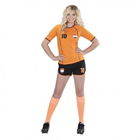 Disfraz de jugadora de fútbol Holandés para mujer. Comprar Online 5968a631c1c