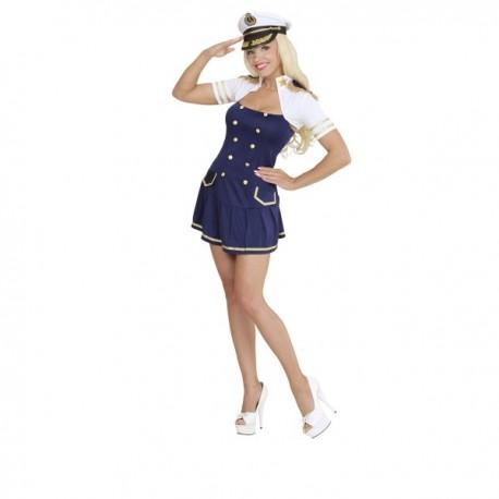 Disfraz de capitana de barco para mujer - Imagen 1