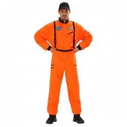 Disfraz de astronauta naranja para hombre - Imagen 1