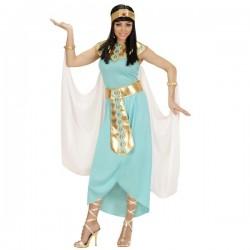 Disfraz de reina egipcia azul para mujer talla grande - Imagen 1