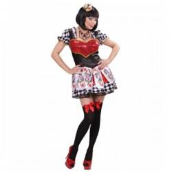 Disfraz de reina de corazones para mujer - Imagen 1