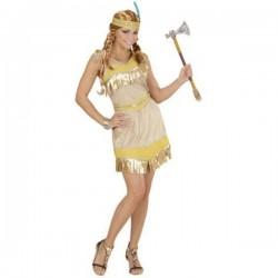 Disfraz de india dorada para mujer - Imagen 1