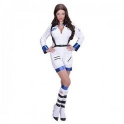 Disfraz de mujer astronauta blanco para mujer - Imagen 1