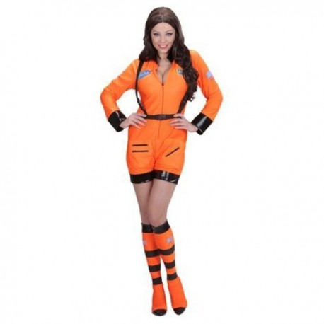 Disfraz de mujer astronauta naranja para mujer - Imagen 1