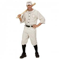 Disfraz de jugador de béisbol para hombre talla grande - Imagen 1