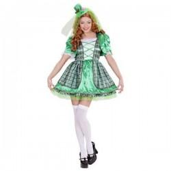 Disfraz de irlandesa para mujer - Imagen 1