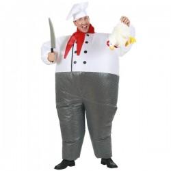 Disfraz de chef hinchable para adulto - Imagen 1