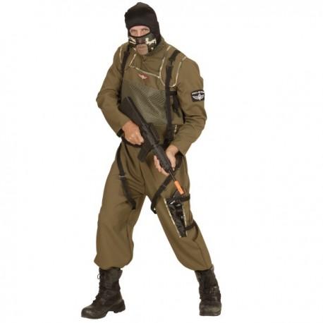Disfraz de paracaidista de las fuerzas especiales para hombre talla grande - Imagen 1