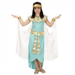 Disfraz de reina egipcia azul para niña - Imagen 1