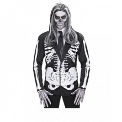 Disfraz de señor esqueleto para hombre - Imagen 1
