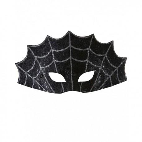 Antifaz de telaraña negra - Imagen 1