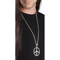 Collar de amor y paz para hombre - Imagen 1