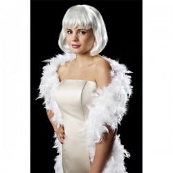 Boa glam blanca para mujer - Imagen 1