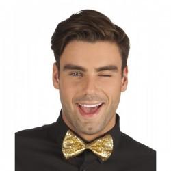 Corbata de moño dorada para hombre - Imagen 1