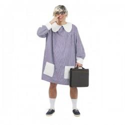 Disfraz de bata colegial - Imagen 1