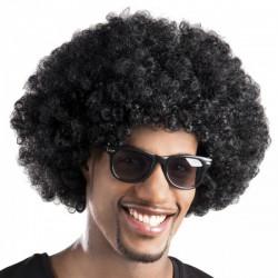 Peluca afro negra unisex - Imagen 1