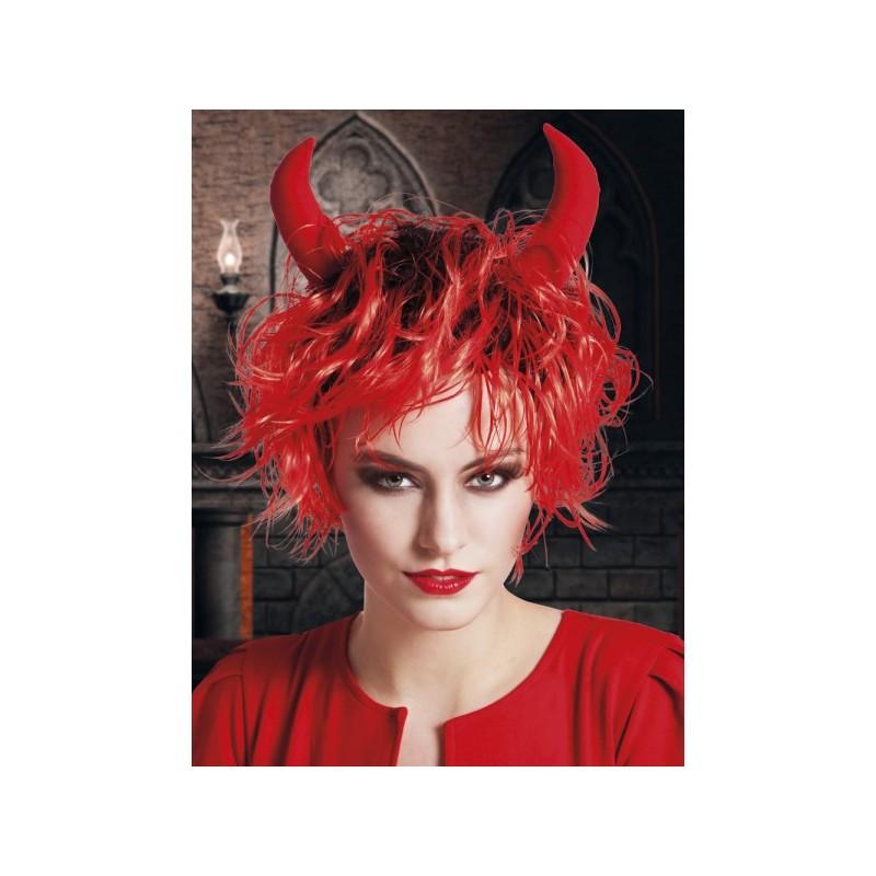 peluca de diabla para mujer imagen