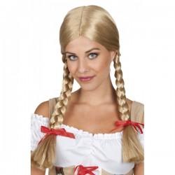 Peluca Heidi rubia para mujer - Imagen 1