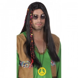 Peluca hippie para hombre - Imagen 1