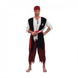 Disfraz de pirata harapiento para hombre - Imagen 1