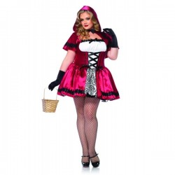 Disfraz de Caperucita encantadora para mujer talla grande - Imagen 1