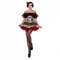 Disfraz de Muñeca Catrina del día de la Muerte para mujer - Imagen 1