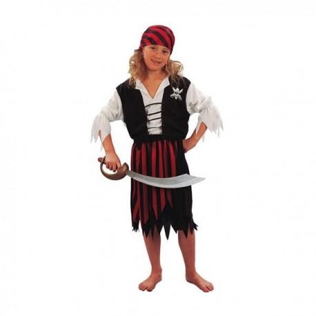 Disfraz de gran pirata niña - Imagen 1