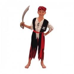 Disfraz de gran pirata niño - Imagen 1