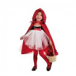 Disfraz de caperucita tutú para niña - Imagen 1