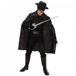 Capa negra fina para hombre - Imagen 1