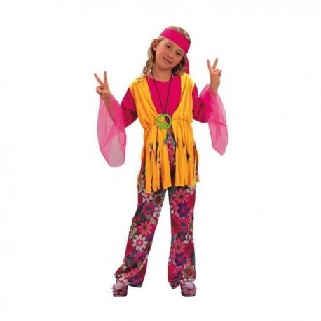 Disfraz de niña hippie - Imagen 1