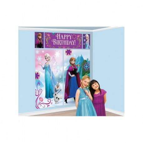Decoración de pared Feliz cumpleaños de Frozen - Imagen 2