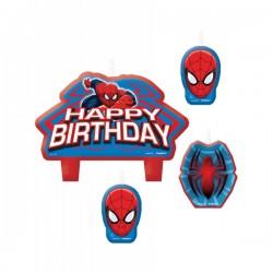 Set de 4 velas de Ultimate Spiderman - Imagen 2