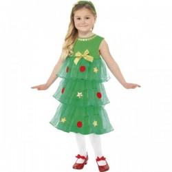 Disfraz de Árbol de Navidad para niña - Imagen 1